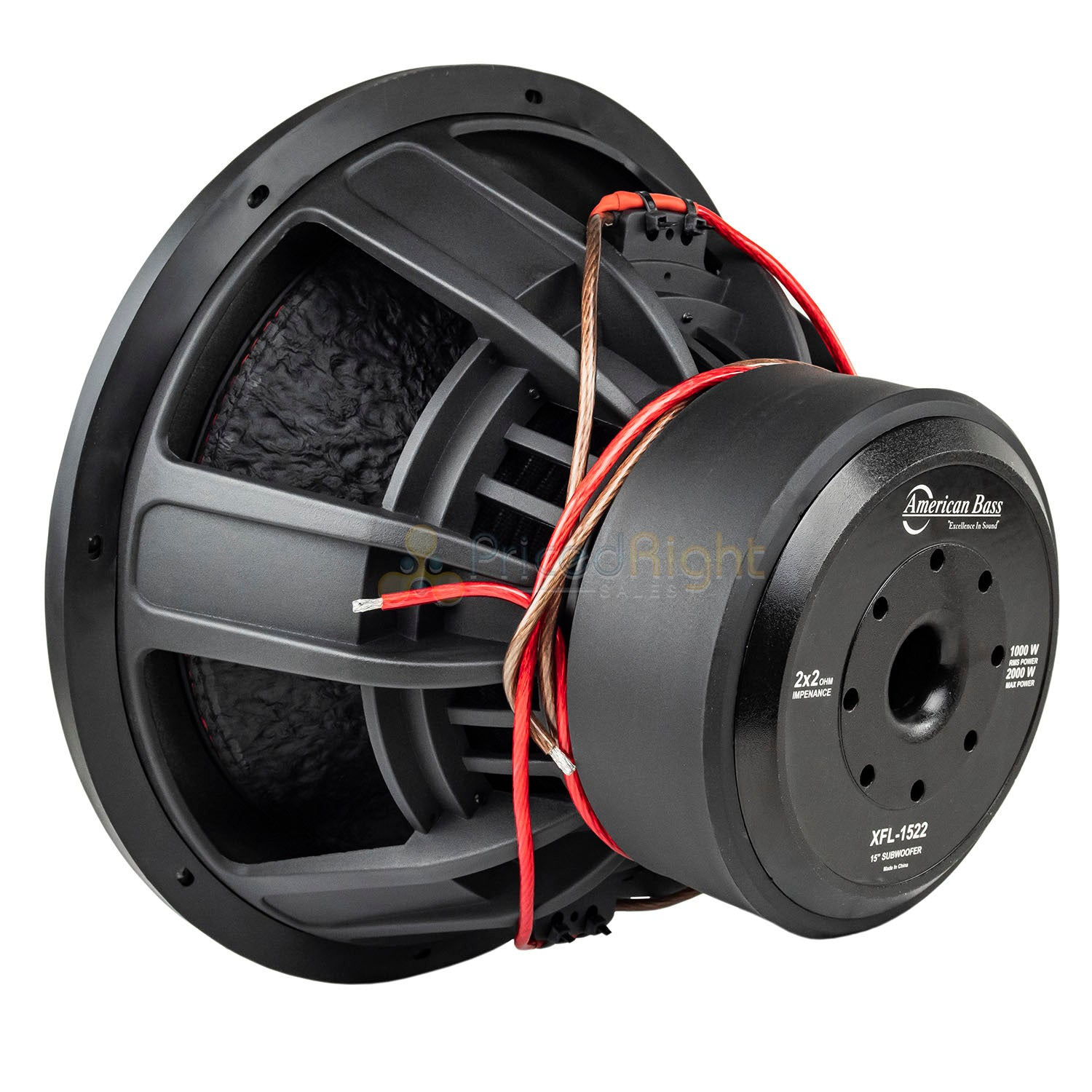 American Bass XD-1522 15 Subwoofers Dual 2 Ohm 2000 Watts Max Car Audio 2 Pack