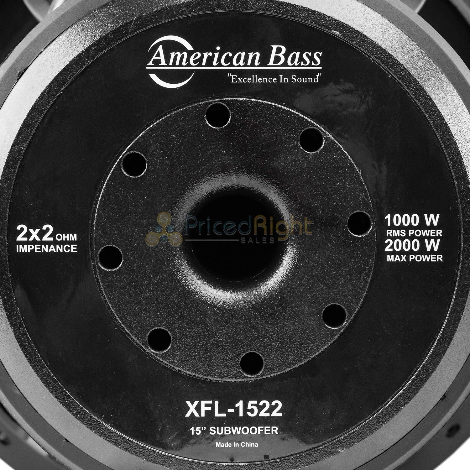 "American Bass XFL-1522 15"" Subwoofer Dual 2 Ohm 2000 Watts Max Car Audio Single"