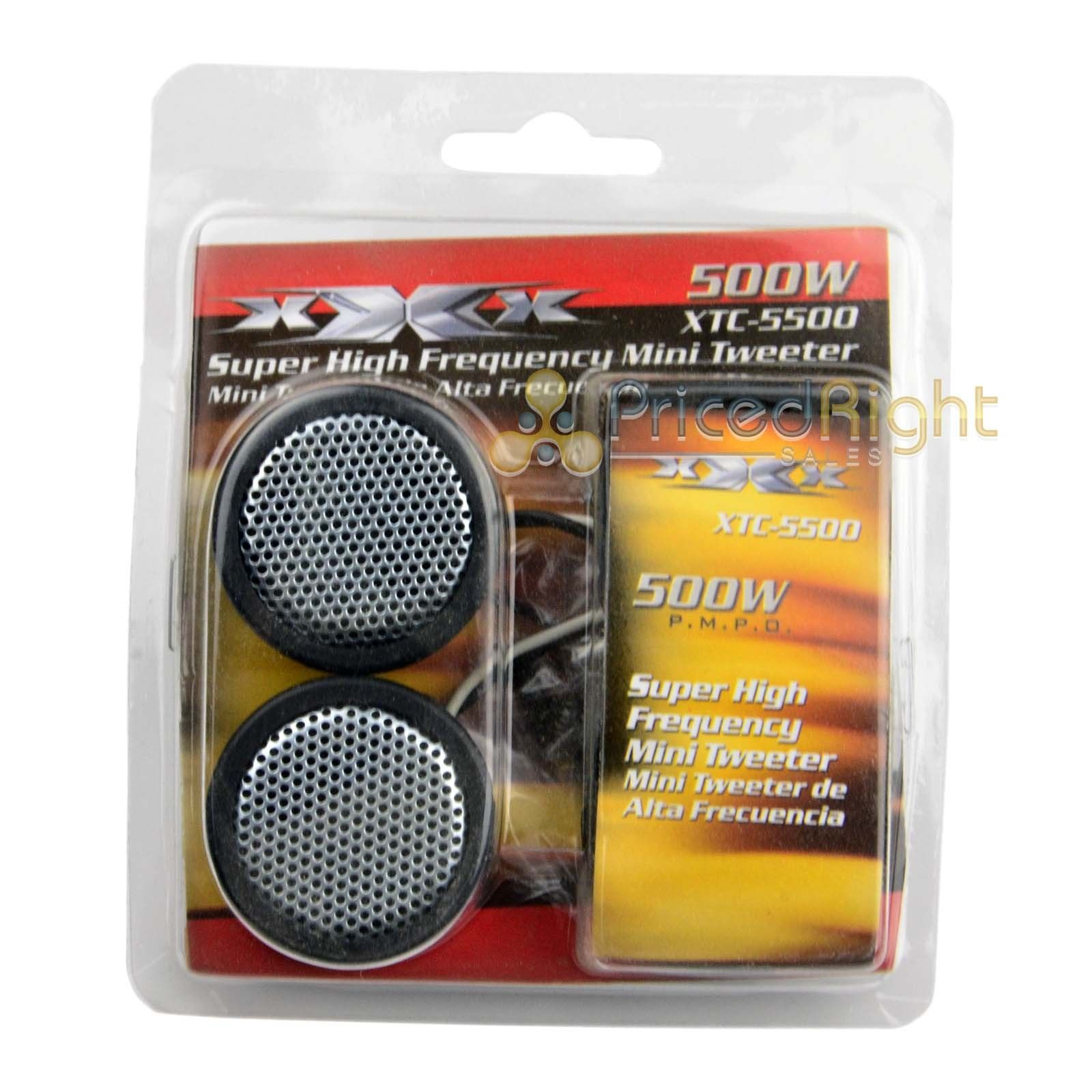 Two Pairs of Super High Frequency 500 Watt XTC-5500 Car Audio Tweeters XTC5500