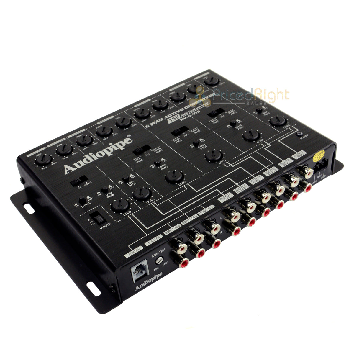6 Way Active Crossover 15V Audio Signal Line Driver Bass Control Audiopipe