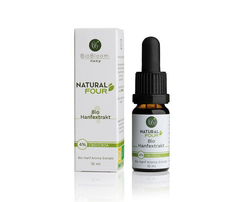 Hanf und Hemp - BioBloom Bio CBD Öl Natural FOUR 4% – 10ml