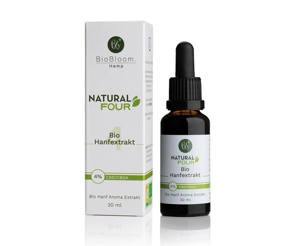 Hanf und Hemp - BioBloom Bio CBD Öl Natural FOUR 4% – 30ml