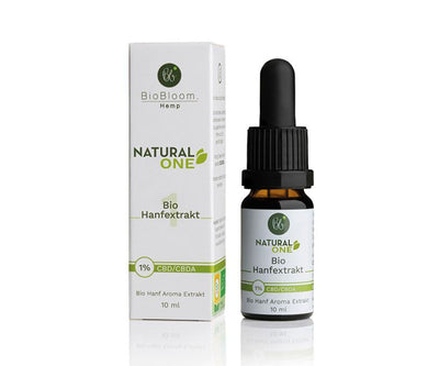 Hanf und Hemp - BioBloom Bio CBD Öl Natural ONE 1% – 10ml