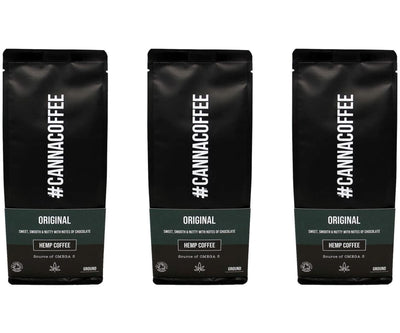 CANNACOFFEE - CANNACOFFEE Original 3er Set - Bio Kaffee mit Hanf