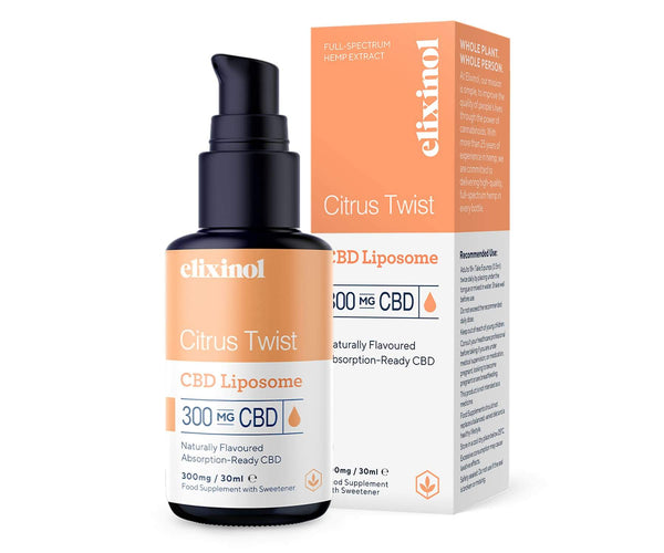 Hanf und Hemp - Elixinol Citrus Twist Liposomales CBD-Spray - 300mg