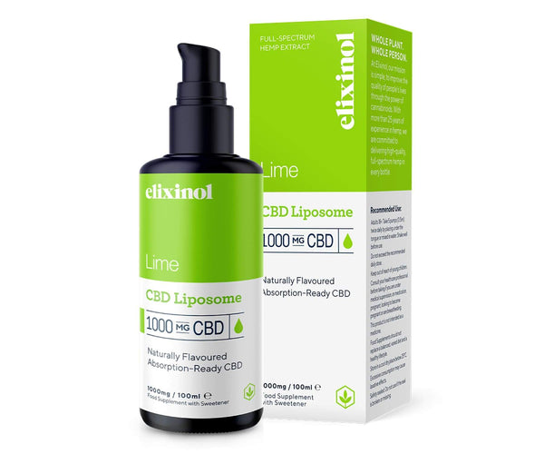 Hanf und Hemp - Elixinol Lime Liposomales CBD-Spray - 1000mg