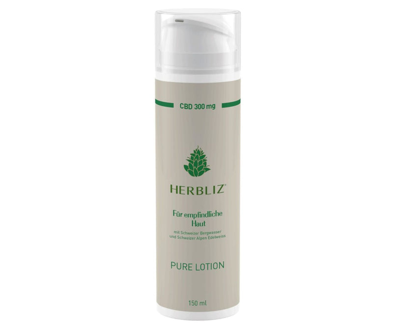 Hanf und Hemp - Pure CBD Lotion 300mg - Herbliz