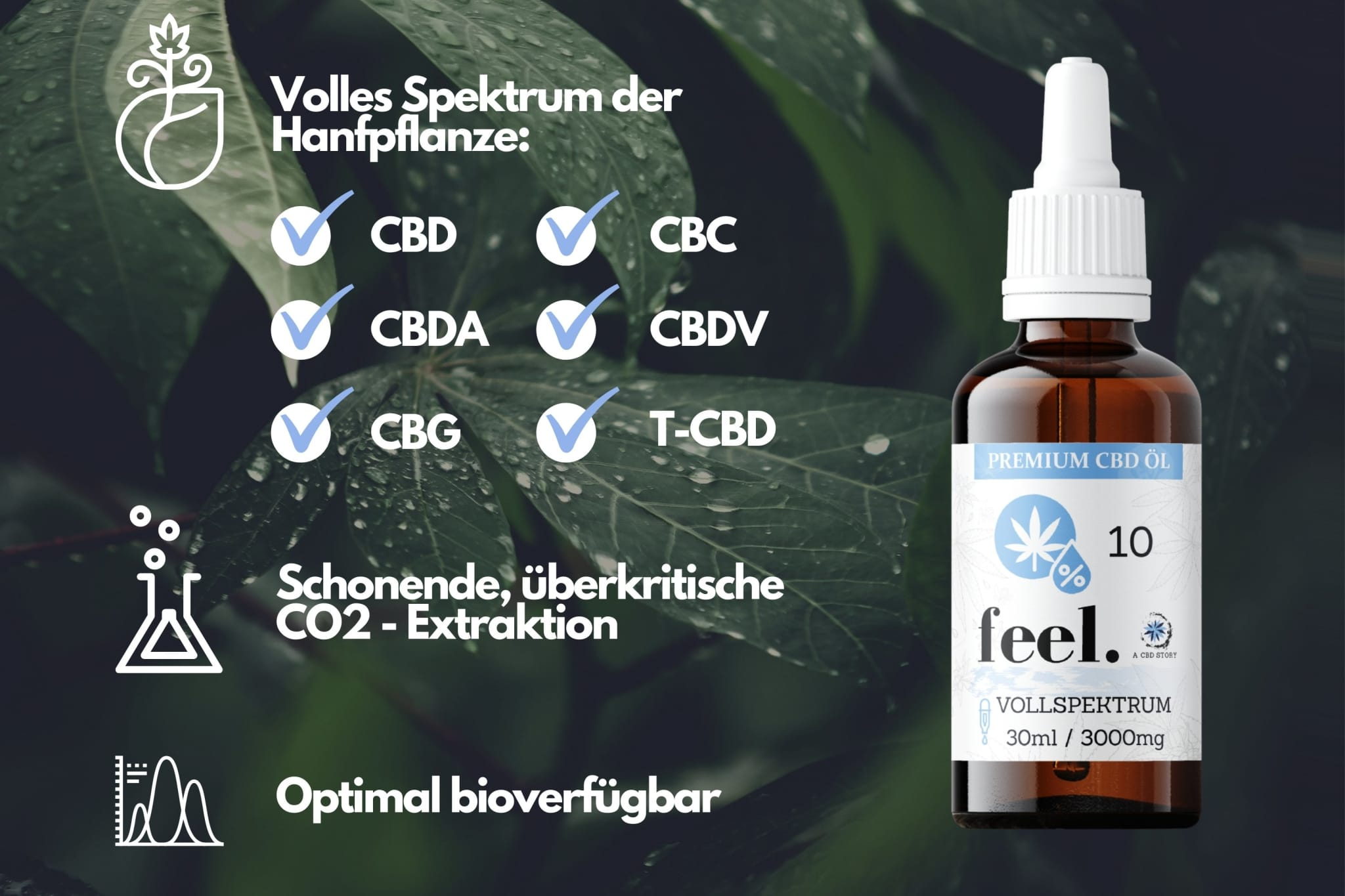 feel. Vollspektrum CBD Öl 10% - 30ml