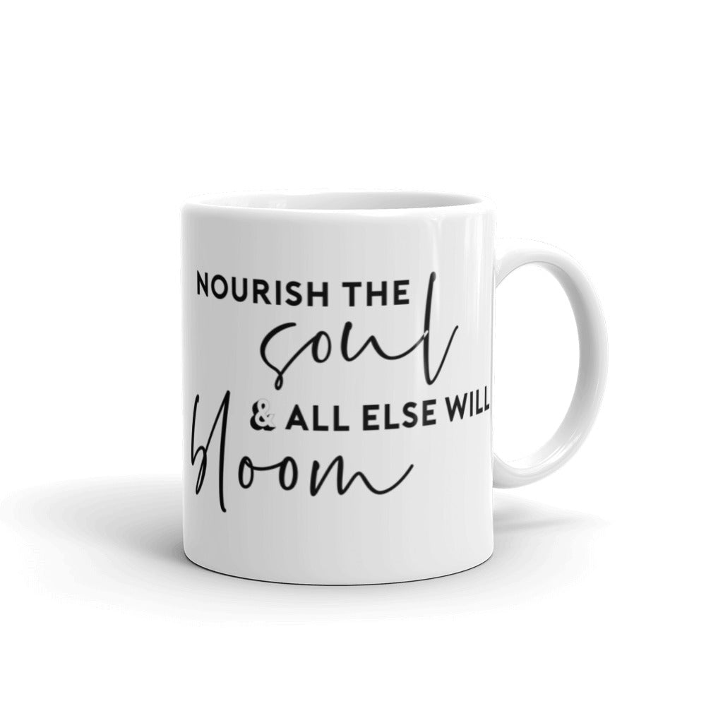 Soul Bloom Slogan Logo Mug