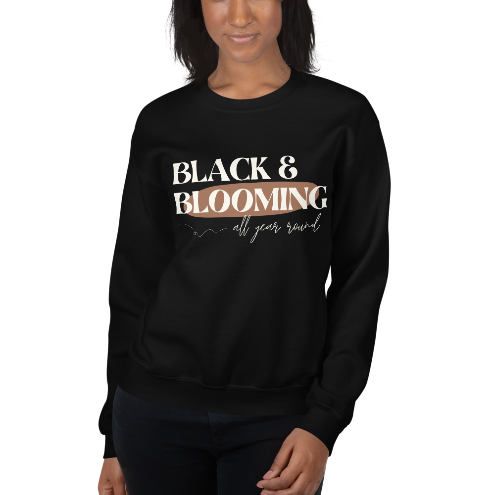 Black & Blooming Sweatshirt