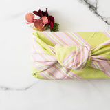 Caladenia - Green & Pink Large Fabric Wrap