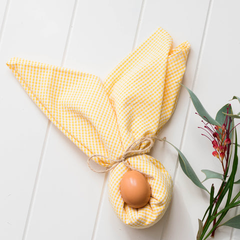 Acacia - Yellow Large Fabric Gift Wrap