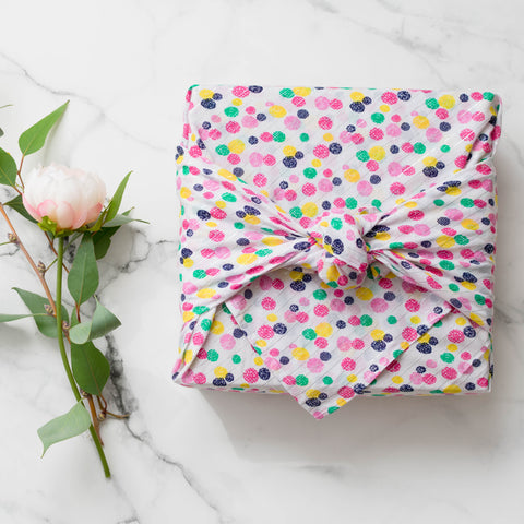 Corymbia -  Polka Large Fabric Gift Wrap