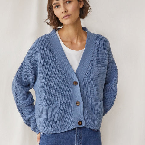 Preila Cardigan Baltic Blue