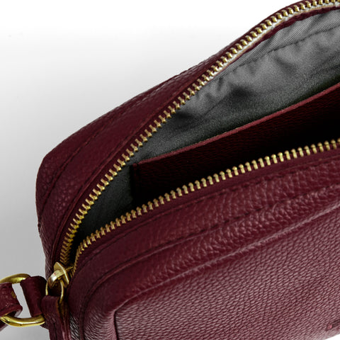 Columbia Road Crossbody Red Wine
