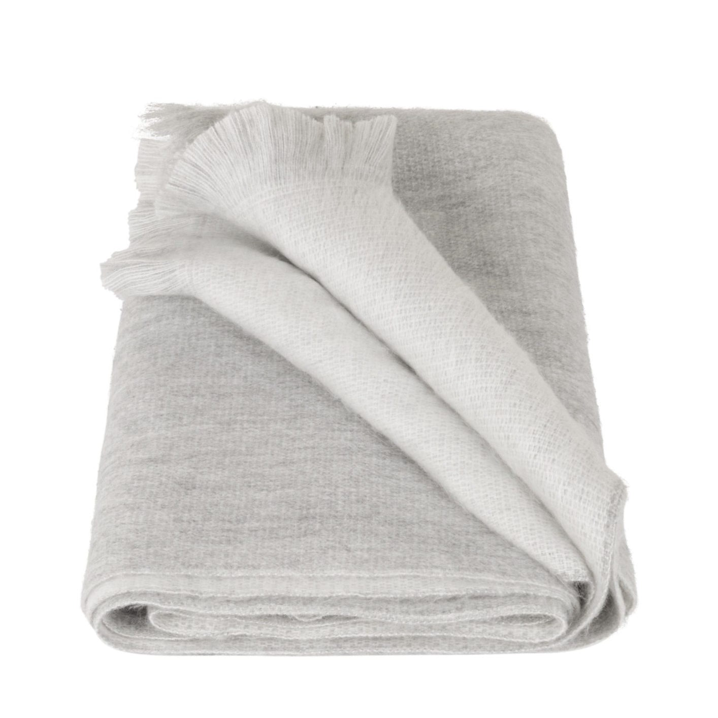 Double Scarf Light Grey White