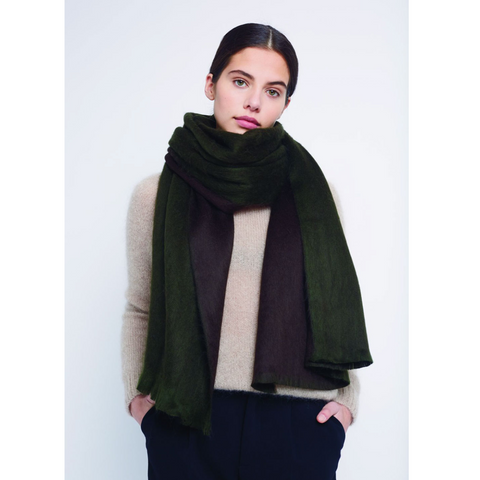 Double Scarf Army Green Brown