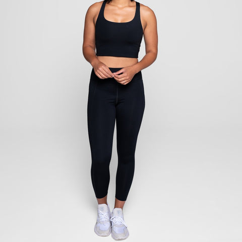 High-Rise Compressive Leggings Black