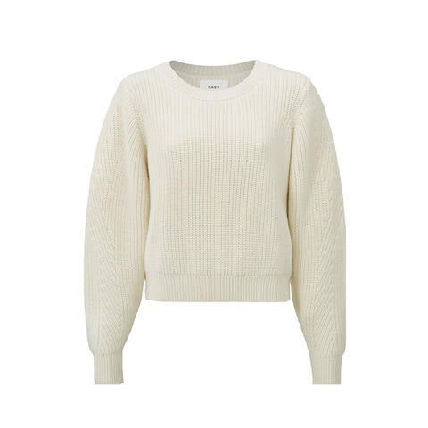 Airy Merino Wool Sweater Flared Sleeves
