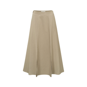 Organic Cotton Skirt with High Slits