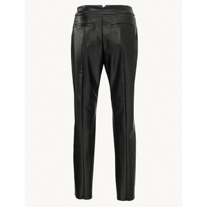Vegea Leather Look Straight Trousers