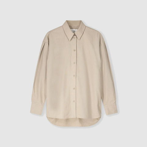 Organic Cotton Relaxed Blouse Pleated Detail