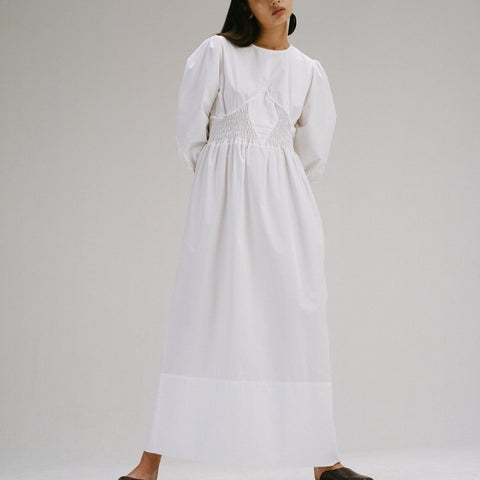 Long Dress with Smock Waist