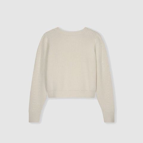Airy Merino Wool Sweater with Voluminous Sleeves