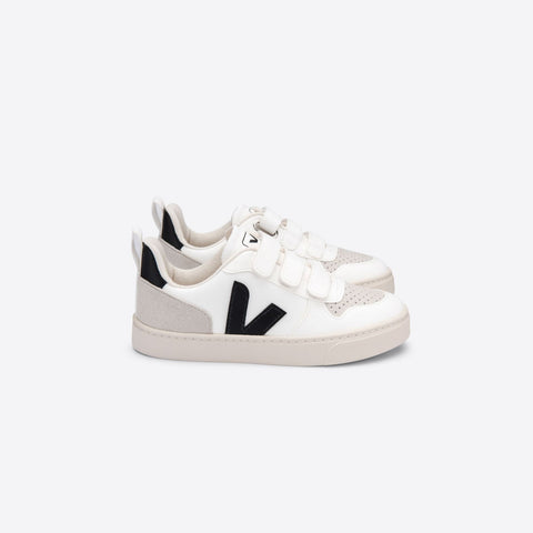Kids V-10 Velcro CWL White Black
