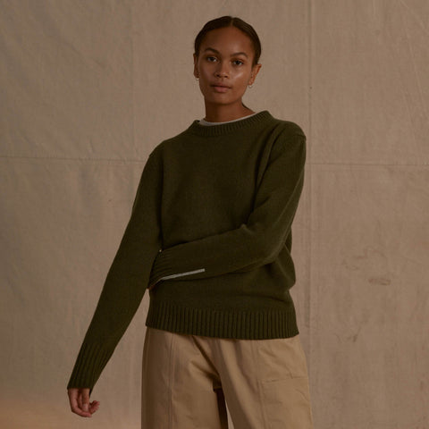 Recycled Cashmere Sweater Forest
