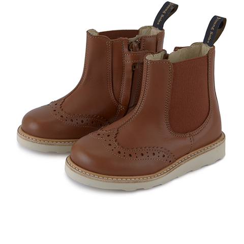 Baby Francis Chelsea Boot Chestnut Brown Leather