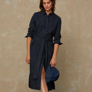 Maggy Dress Stripe Indigo