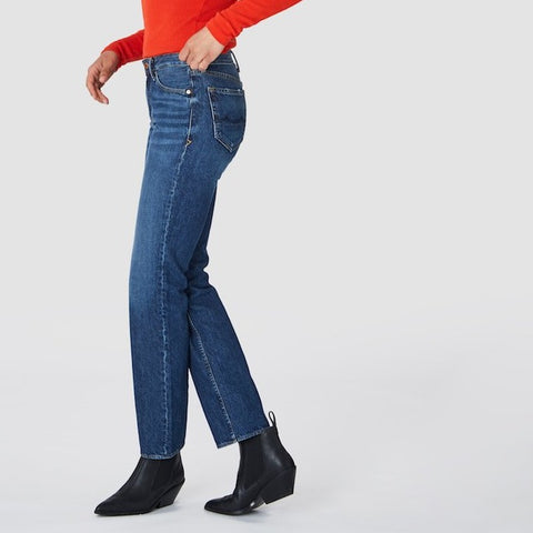 Lucy High Rise Straight Jeans