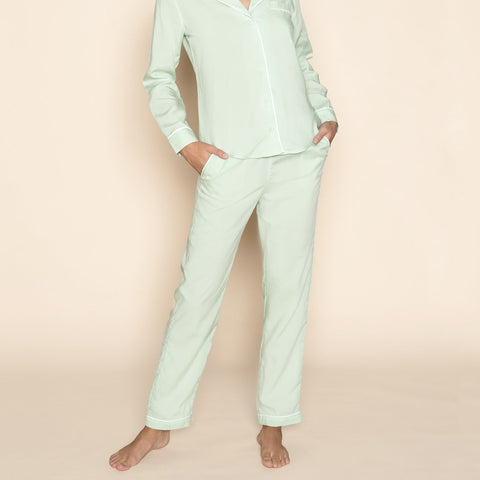 Pyjama Trousers Mint Green
