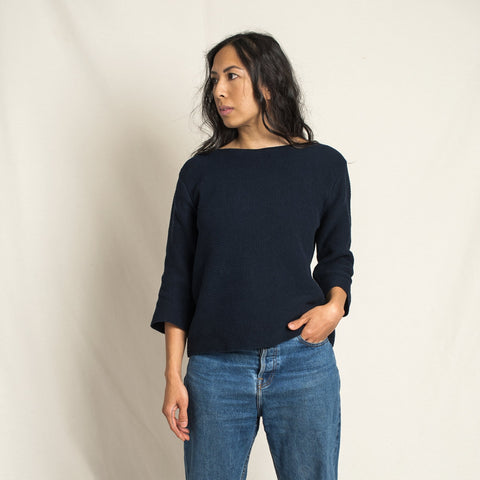 Marguerite Cotton Top Navy