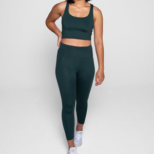 High-Rise Compressive Leggings Moss Green