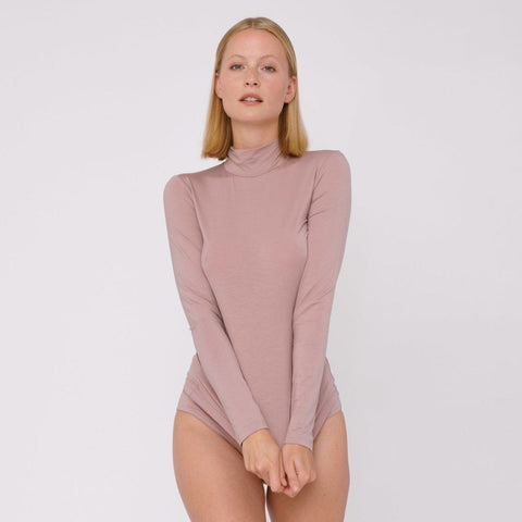 Tencel Lite Turtleneck Dusty Rose
