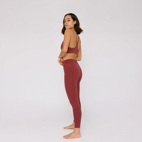 SilverTech™ Active Leggings Burgundy