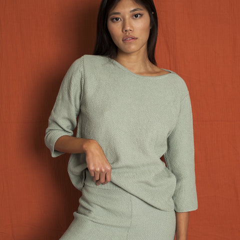 Marguerite Cotton Top Sage Green