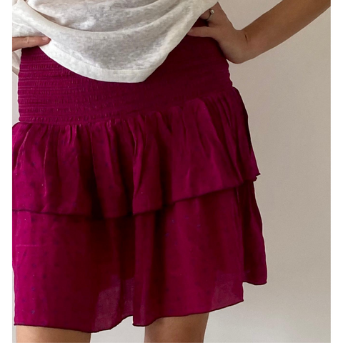 Suleima Silk Mini Skirt