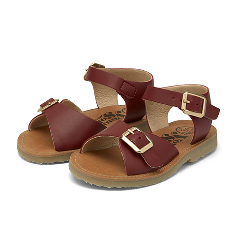 Junior Sonny Vegan Sandal Cherry Synthetic Leather