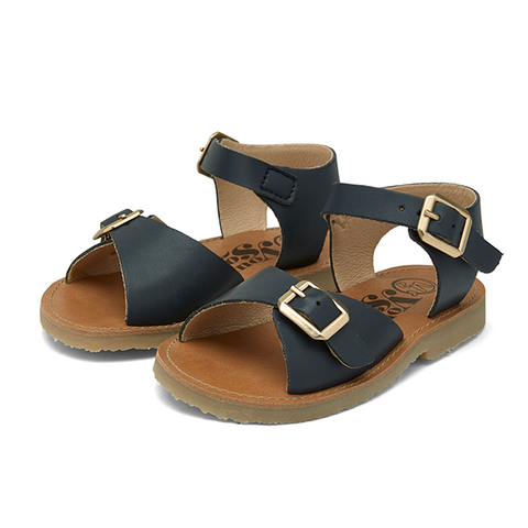 Junior Sonny Vegan Sandal Navy Synthetic Leather