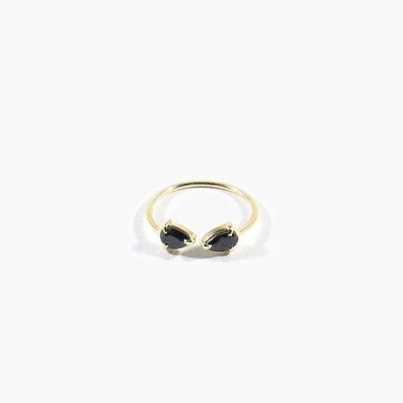 Twosided Ring 14 Karat Gold Black Onyx
