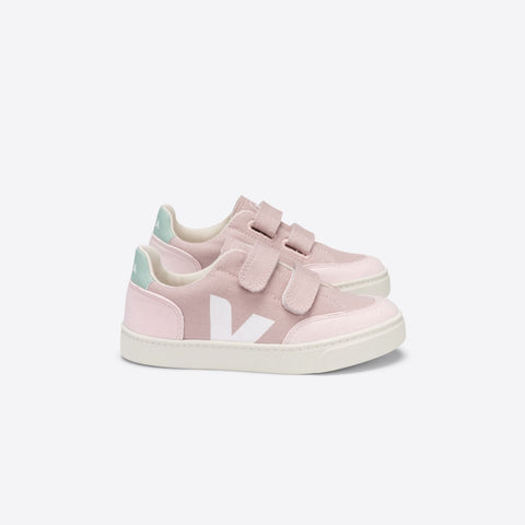 Kids V-12 Velcro Canvas Babe White Matcha