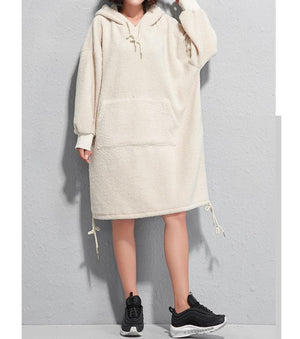 Hoodie Women Fall Dresses Shift Daily Casual Dresses
