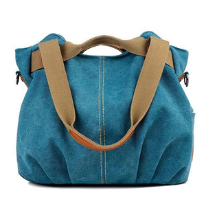 Women's Vintage Canvas Shoulder Bag Purse Top-Handle Hobo Tote Handbags Crossbody Shopping Bags