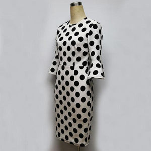 Polka Dot Bodycon Mini Dress