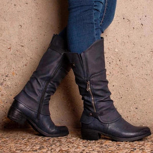 Fashion Zipper Knight Boots