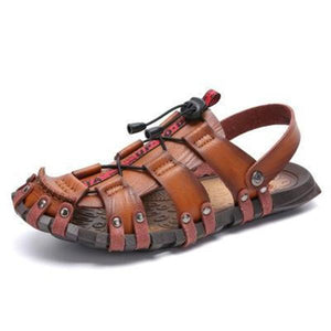 Mens Classic Gladiator Outdoor Closed Toe Sandals