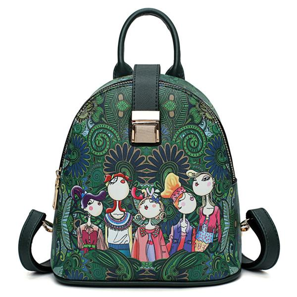 Bohemian Series Casual Multi-functional Backpack Crossbody Bag